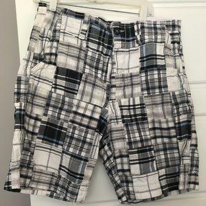 American Eagle Plaid Patchwork Shorts 33